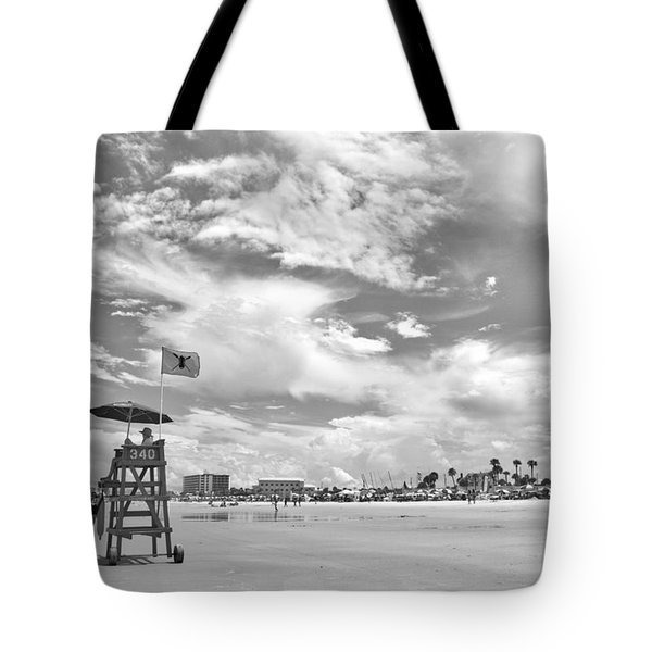 Clouds On The Beach Tote Bag