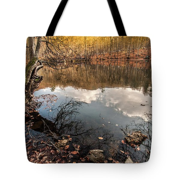 Clouds On The Lake Tote Bag