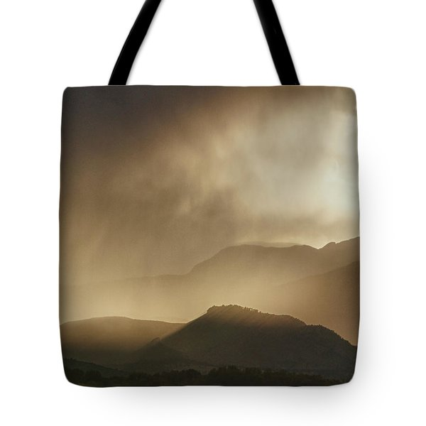 Clouds On The Rocky Mountains Front Range Foothills Tote Bag by James BO  Insogna