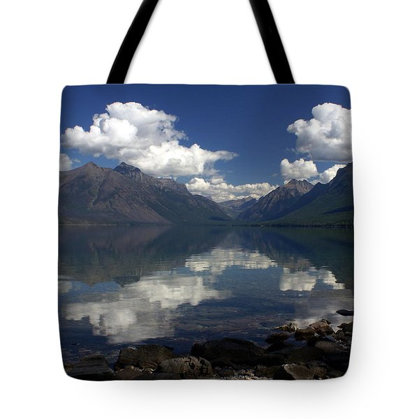 Clouds On The Water Tote Bag by Marty Koch