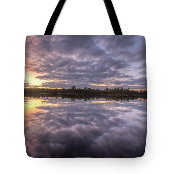 Tote Bag featuring the photograph Kawishiwi River Sunset Refletion, Boundayt Watery Minnesota by Paul Schultz