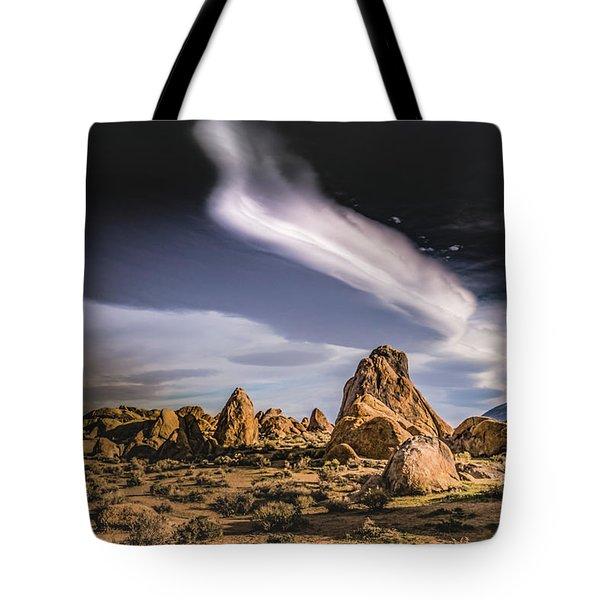 Clouds Over Alabama Hills Tote Bag