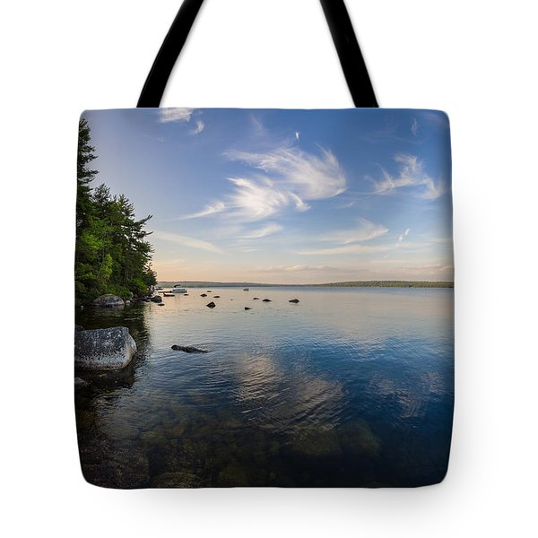 Clouds Over Branch Lake Tote Bag