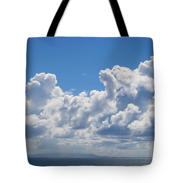 Clouds Over Catalina Island - Panorama Tote Bag