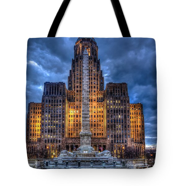 Clouds Over City Hall Tote Bag