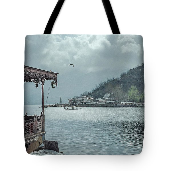 Clouds Over Dal Lake In Kashmir Tote Bag