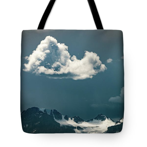 Tote Bag featuring the photograph Clouds Over Glacier, Banff Np by William Lee