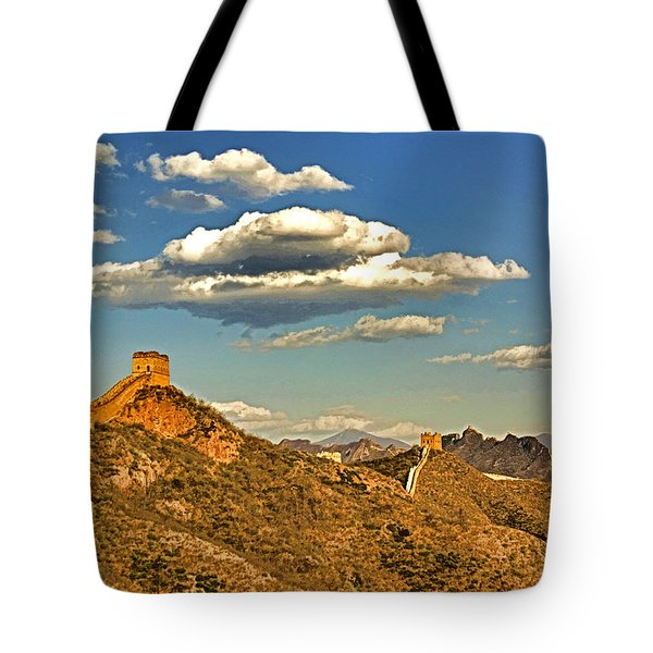 Clouds Over Great Wall Tote Bag