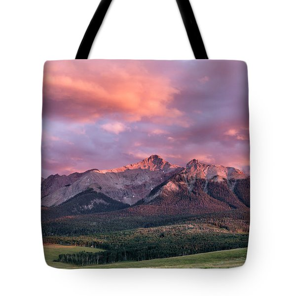 Clouds Over Hayden At Sunset Tote Bag