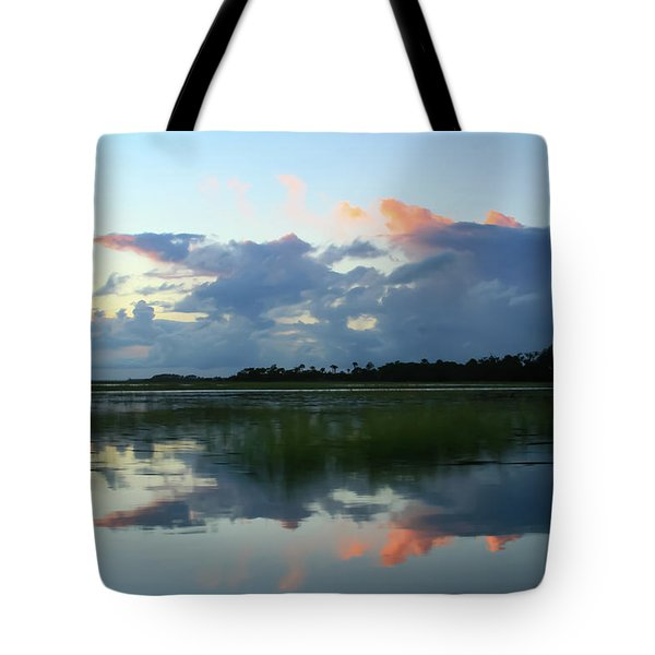 Tote Bag featuring the photograph Clouds Over Marsh by Patricia Schaefer