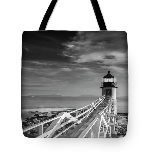 Tote Bag featuring the photograph Clouds Over Marshall Point Lighthouse In Maine by Ranjay Mitra