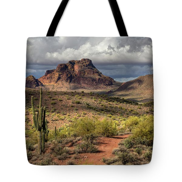 Clouds Over Red Mountain Tote Bag