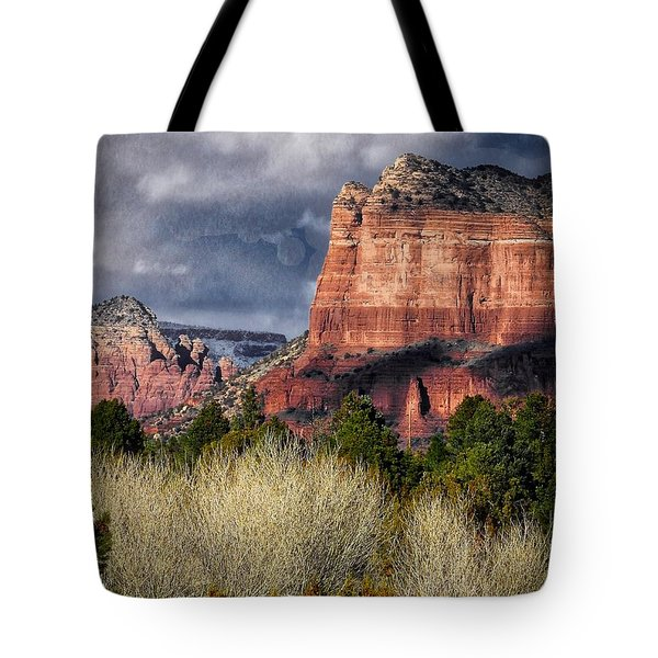 Clouds Over Sedona Tote Bag