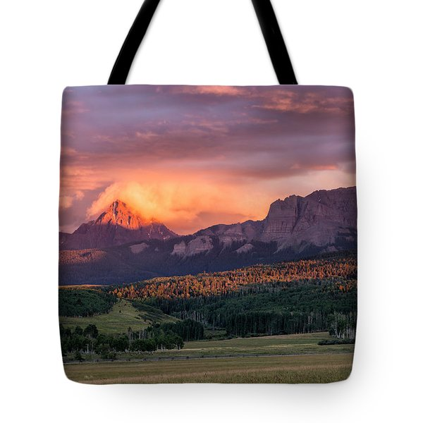 Clouds Over Sneffels At Sunset Tote Bag