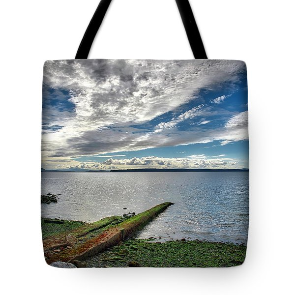 Clouds Over The Bay Tote Bag