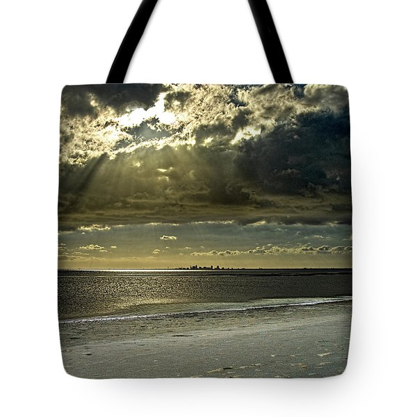 Clouds Over The Bay Tote Bag by Christopher Holmes