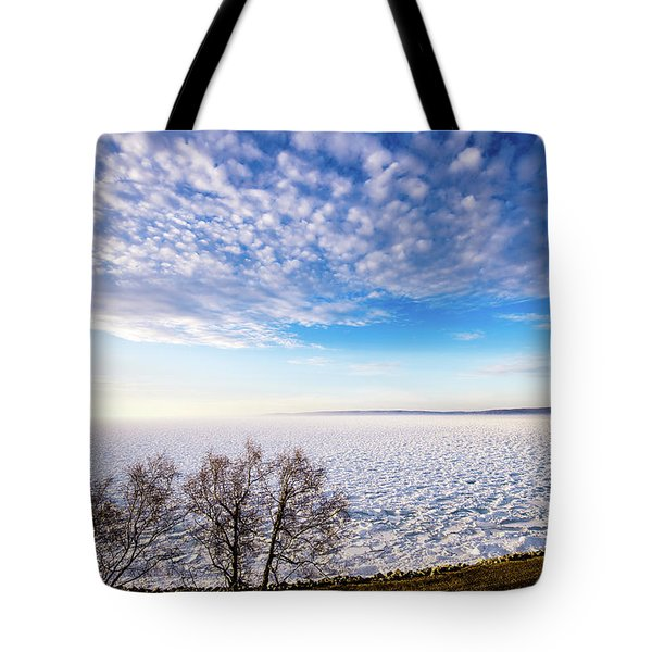 Tote Bag featuring the photograph Clouds Over The Bay by Onyonet  Photo Studios