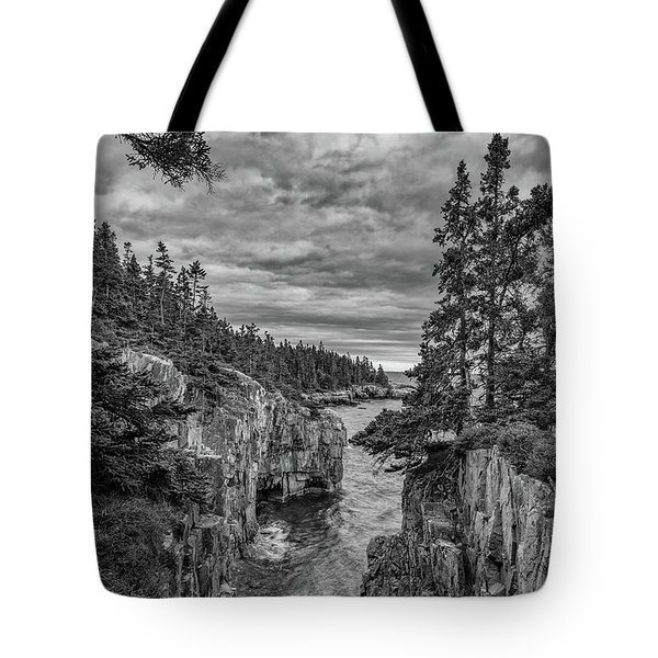 Clouds Over The Cliffs Tote Bag
