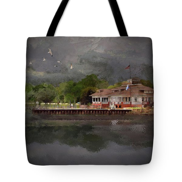 Clouds Over The Harbor Tote Bag