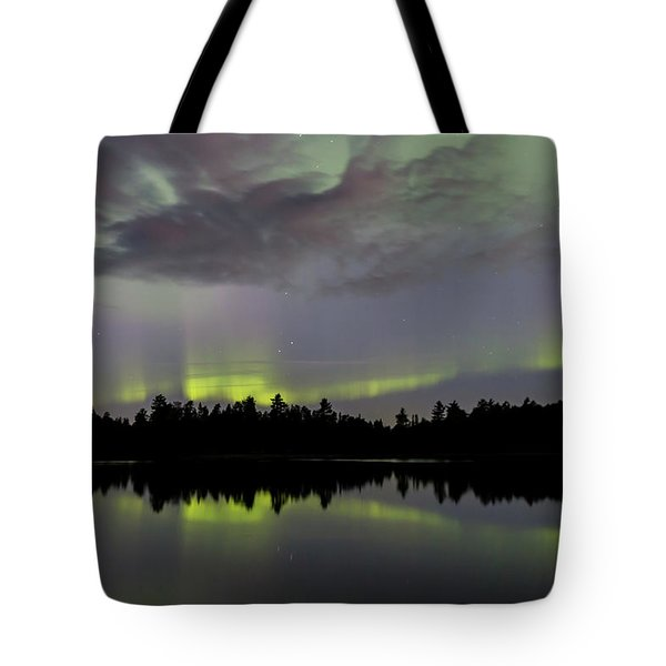 Clouds Over The Lights Tote Bag