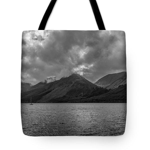 Clouds Over Loch Lochy, Scotland Tote Bag