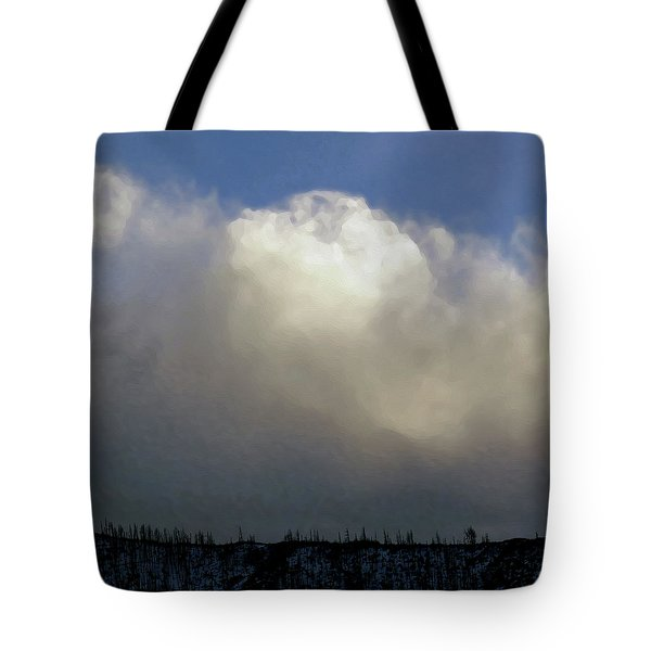 Clouds Over The Ridge Tote Bag by Agustin Goba