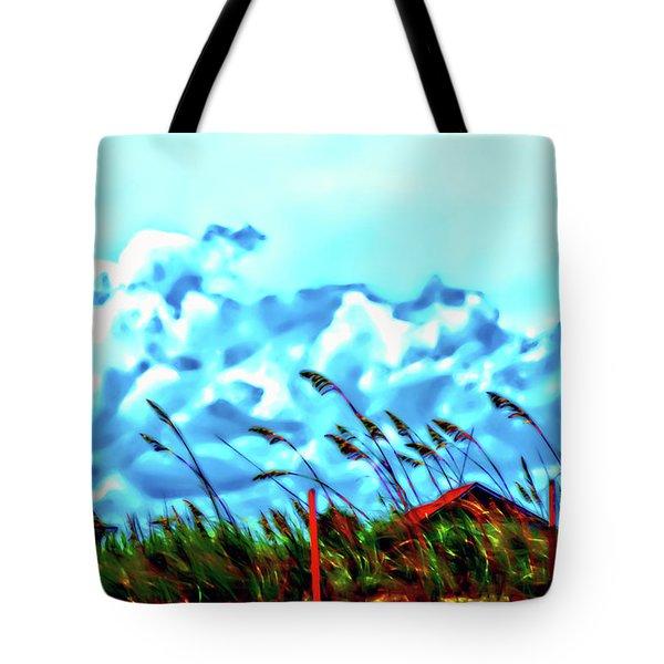 Clouds Over Vilano Beach Tote Bag