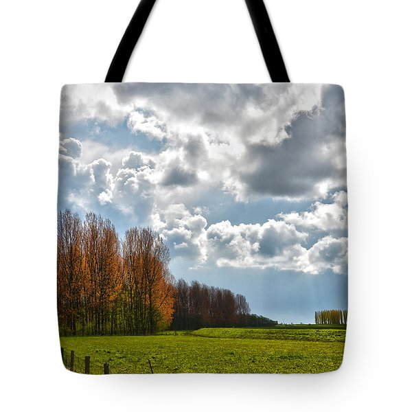 Clouds Over Voorne Tote Bag by Frans Blok