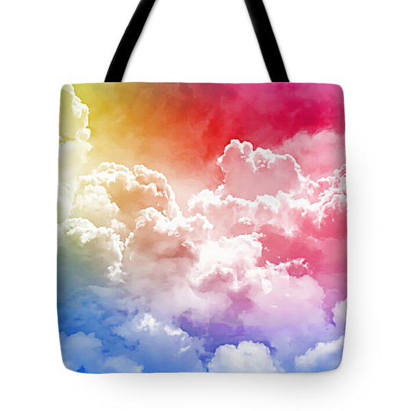 Clouds Rainbow - Nuvole Arcobaleno Tote Bag by Zedi