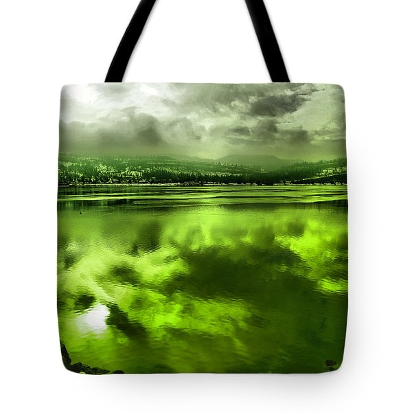 Tote Bag featuring the photograph Clouds Reflecting Off The Columbia  by Jeff Swan