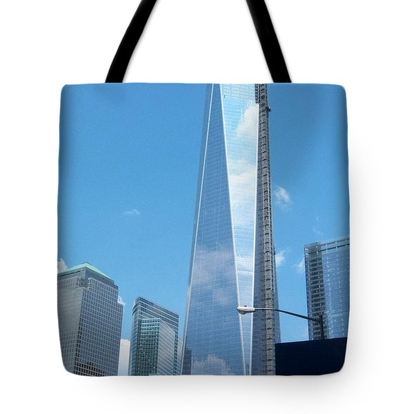 Clouds Reflection Tote Bag