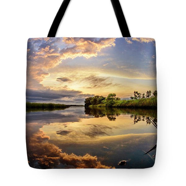 Clouds Reflections Tote Bag