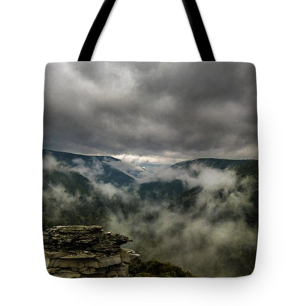 Clouds Rising At Lindy Point Tote Bag