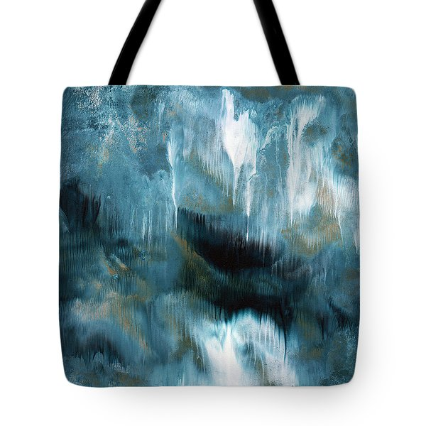 Clouds Rolling In- Abstract Art By Linda Woods Tote Bag