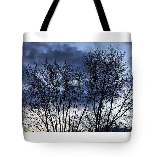 Clouds Through Trees Tote Bag