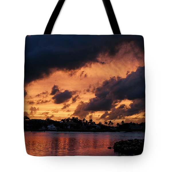 Tote Bag featuring the photograph Cloudscape by Laura Fasulo