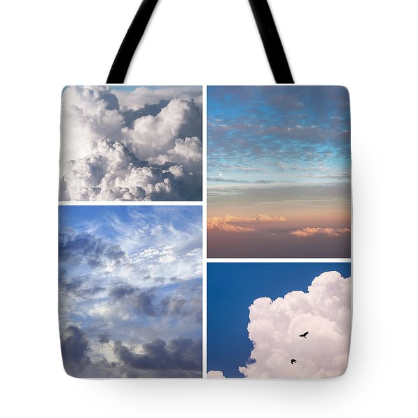 Tote Bag featuring the photograph Cloudscapes Collage by Jenny Rainbow