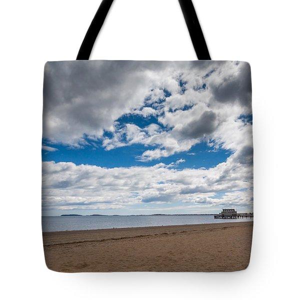Cloudy Beach Day Tote Bag