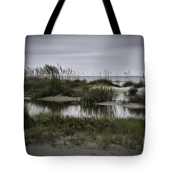 Tote Bag featuring the photograph Cloudy Beach Day by Judy Wolinsky