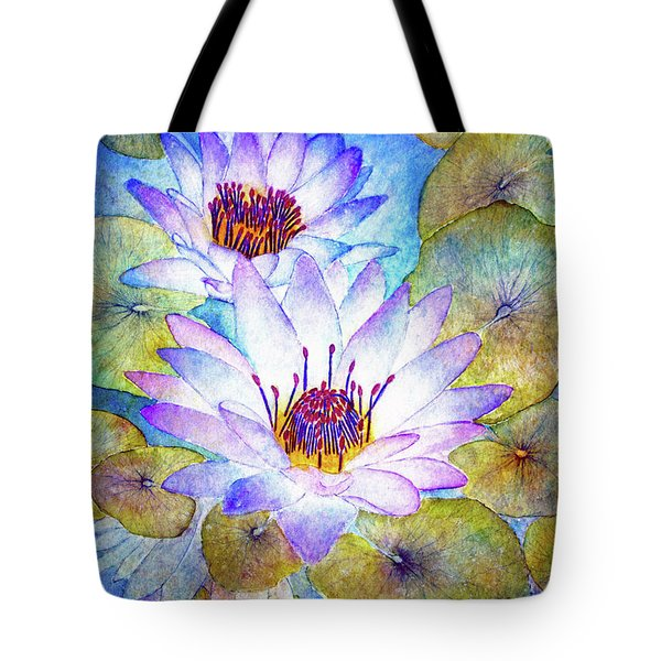 Cloudy Blue Lilies Tote Bag