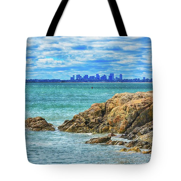 Cloudy Boston Tote Bag