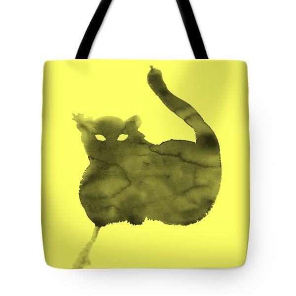 Tote Bag featuring the painting Cloudy Cat by Marc Philippe Joly
