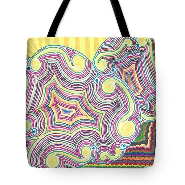 Cloudy Chaos Tote Bag by Jill Lenzmeier