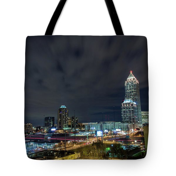 Cloudy City Tote Bag