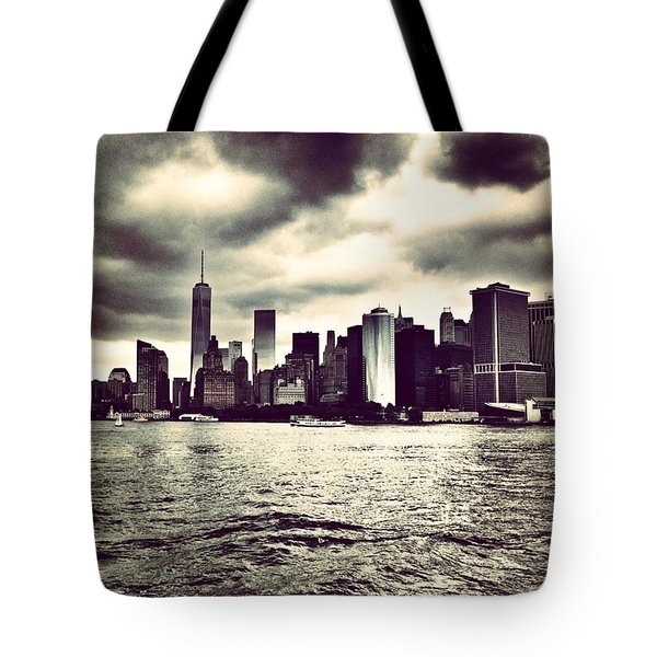 Cloudy Day In #nyc Tote Bag