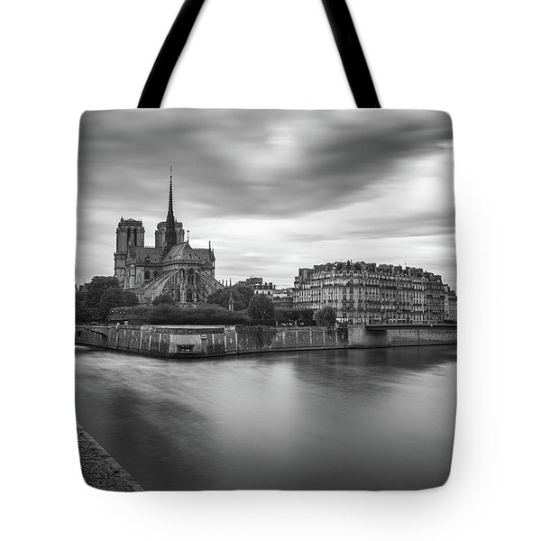 Cloudy Day On The Seine Tote Bag