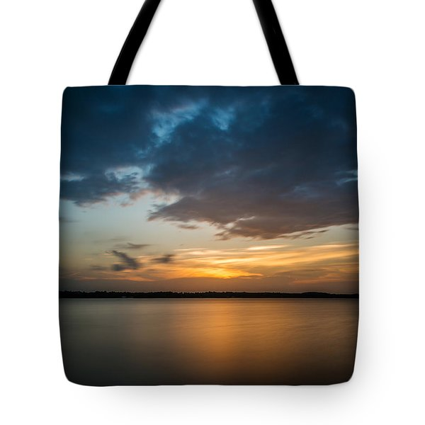 Cloudy Lake Sunset Tote Bag