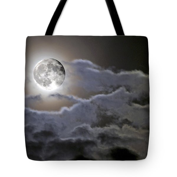 Cloudy Moon Tote Bag