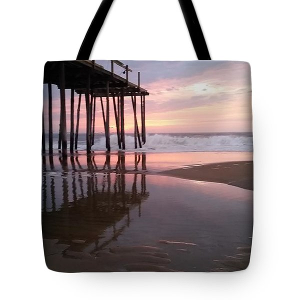 Cloudy Morning Reflections Tote Bag