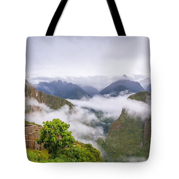 Cloudy Mountains. Tote Bag